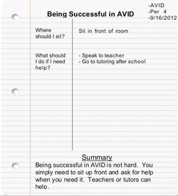 Notes Expectations - WHHS AVID